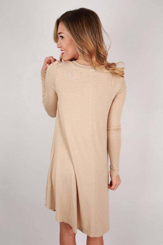 Sweet For Spring Dress in Beige