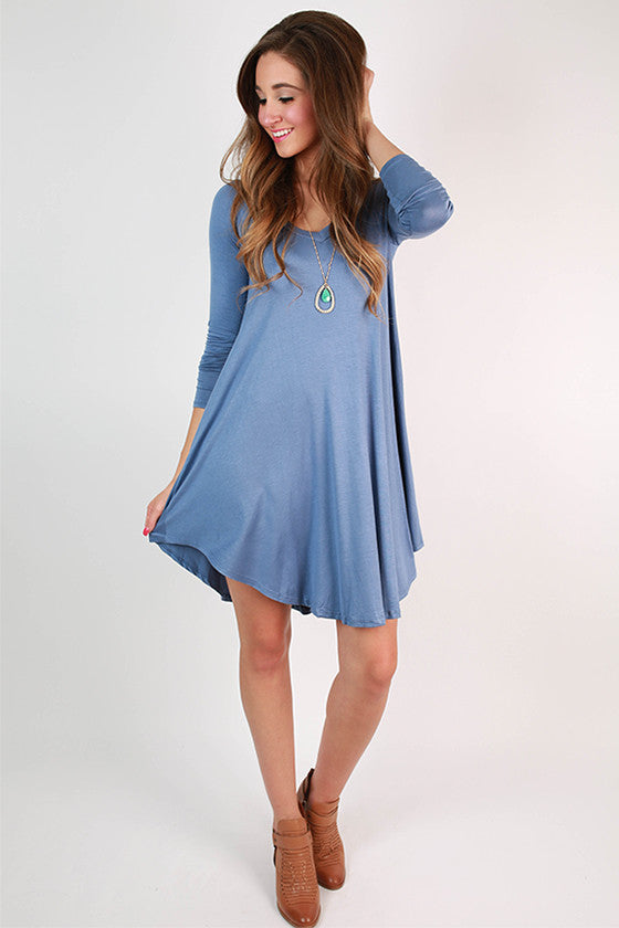 Sweet For Spring Dress in Periwinkle