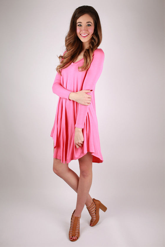 Sweet For Spring Dress in Pink
