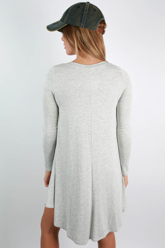 Sweet For Spring Dress in Grey