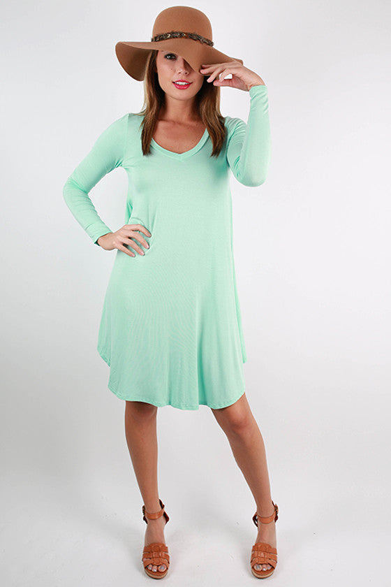Sweet For Spring Dress in Mint