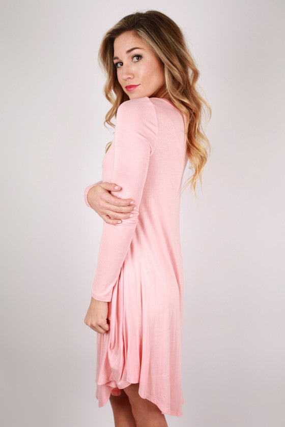 Sweet For Spring Dress in Peach