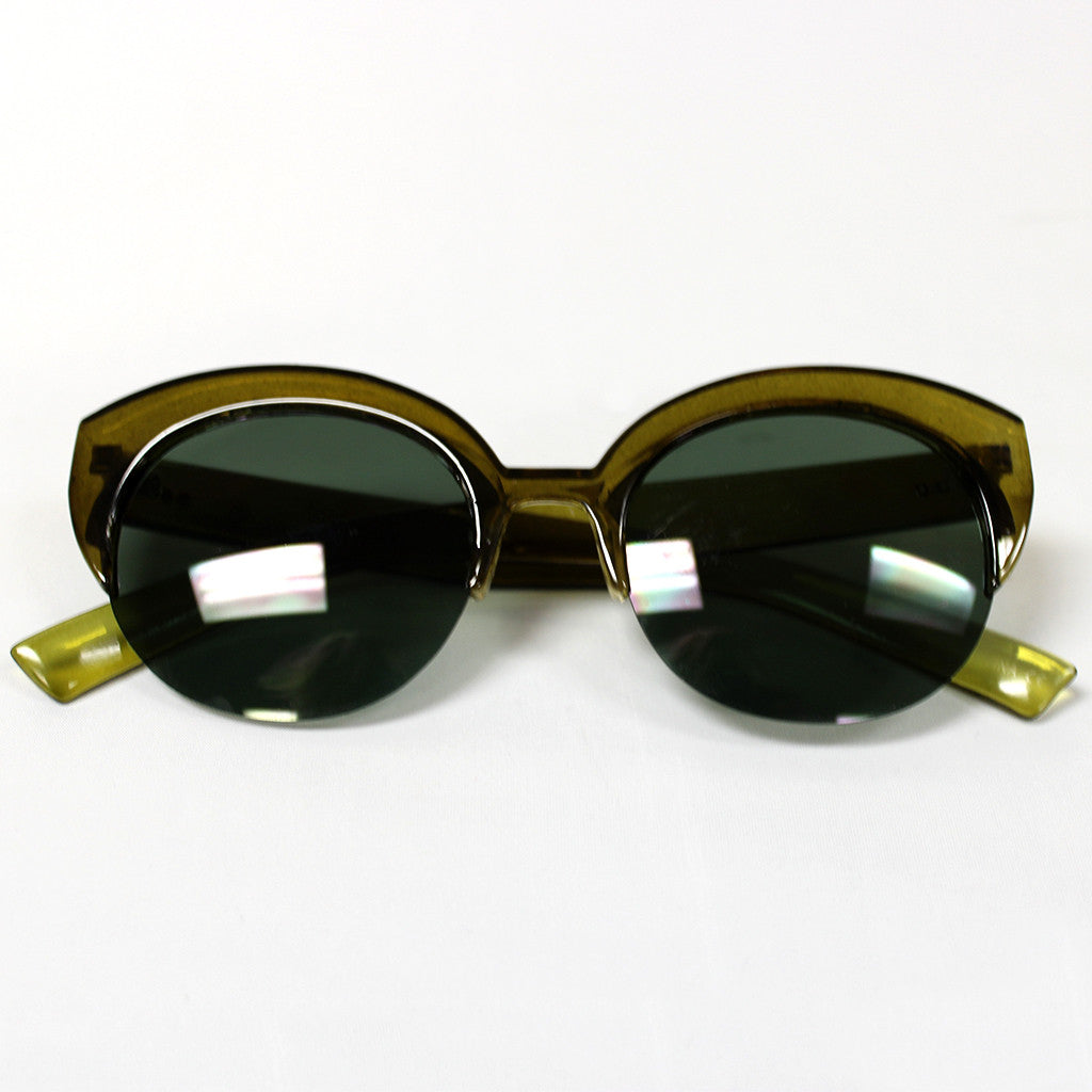 Living in Color Sunglasses in Olive