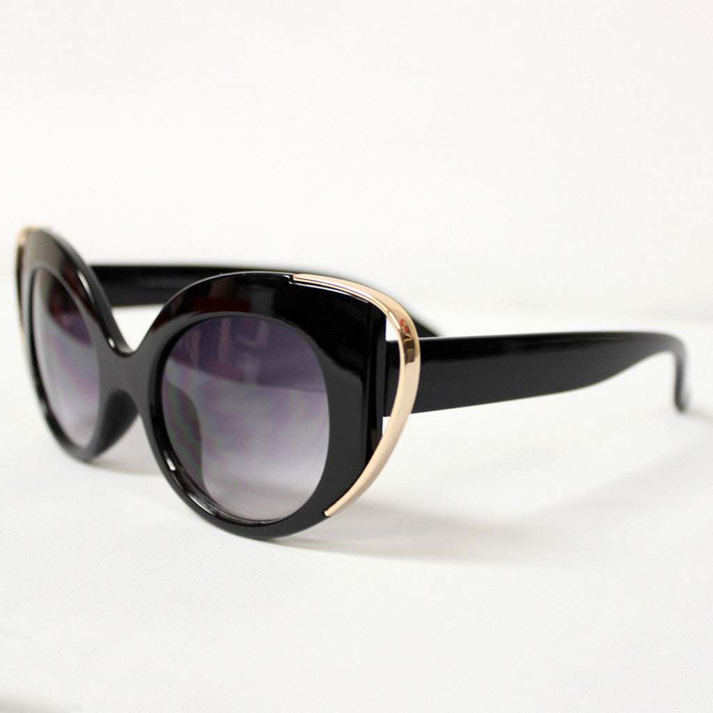 Sunny Days Ahead Sunglasses Black/Gold