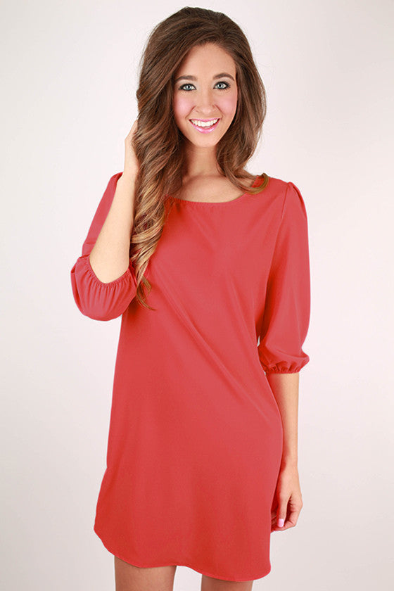 Wine & Roses Shift Dress in Calypso