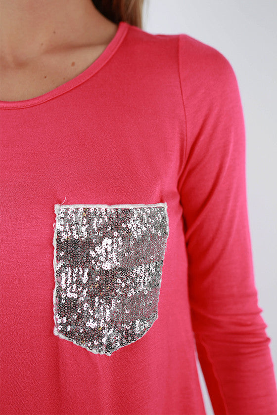 Sparkle Divine Tee in Raspberry