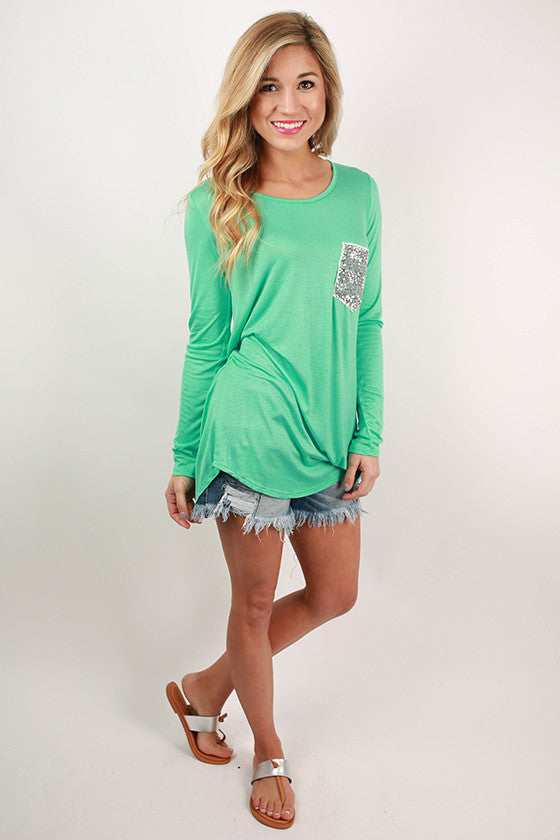 Sparkle Divine Tee in Ocean Wave