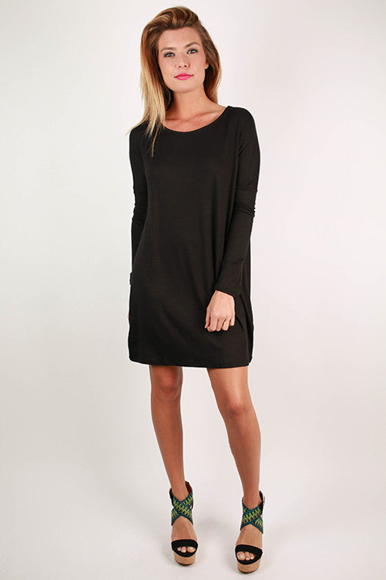 Dream Girl Shift Dress in Black