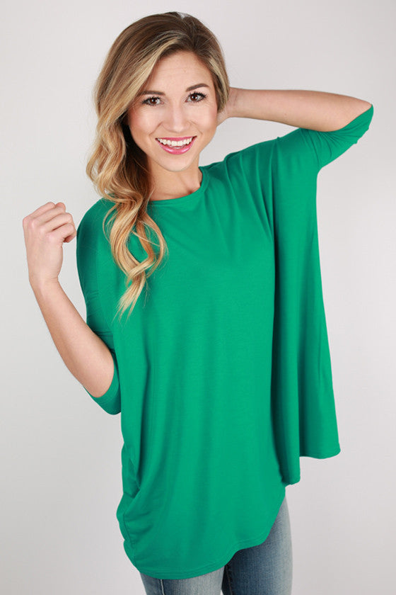 PIKO Mid Sleeve Tee in Bright Green