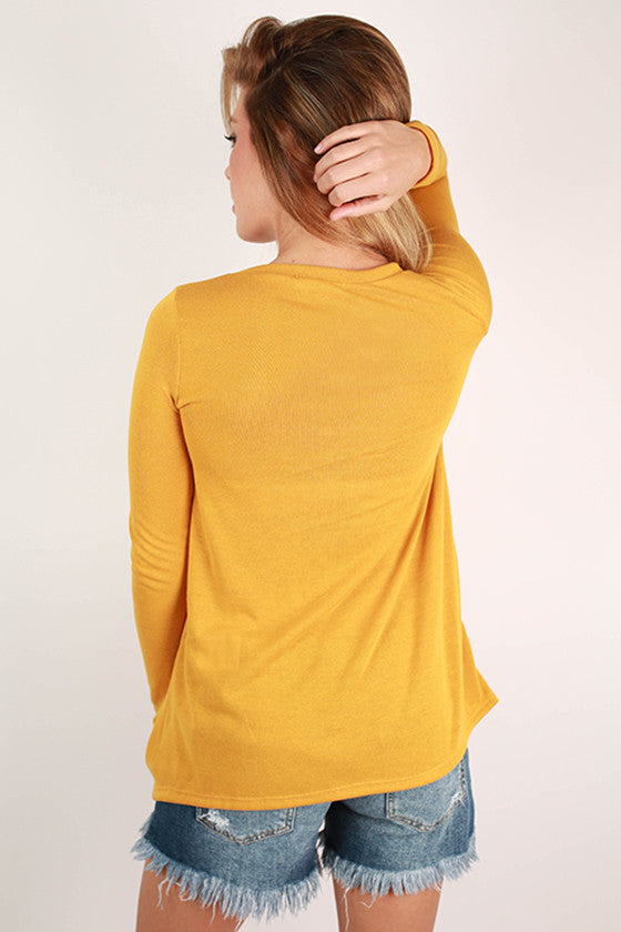 Keep It Real Top in Mustard