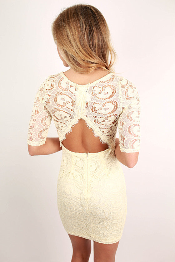 London Callin' Lace Dress in Cream