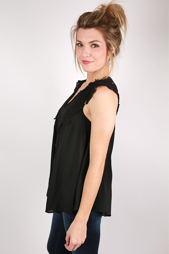 Sweet & Sun Kissed Top in Black