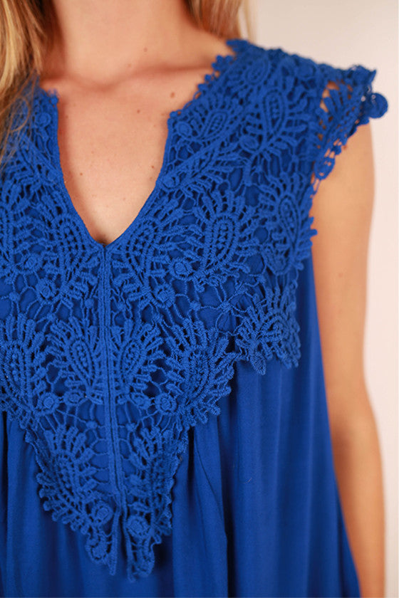 Sweet & Sun Kissed Top in Royal Blue