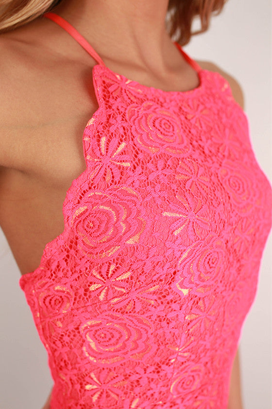 Lace My Dear Dress in Hot Pink