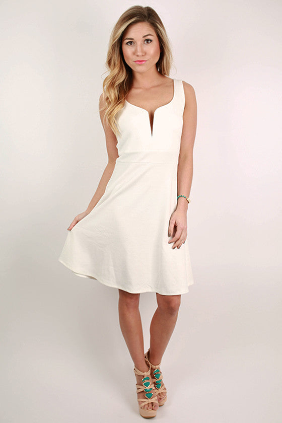 Dancing The Night Away Dress in White