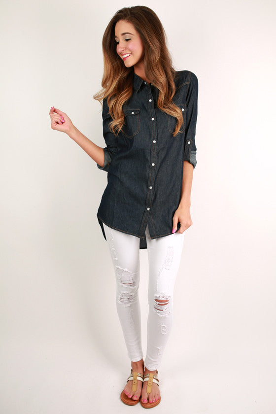 Rhythm & Blues Tunic in Dark Denim