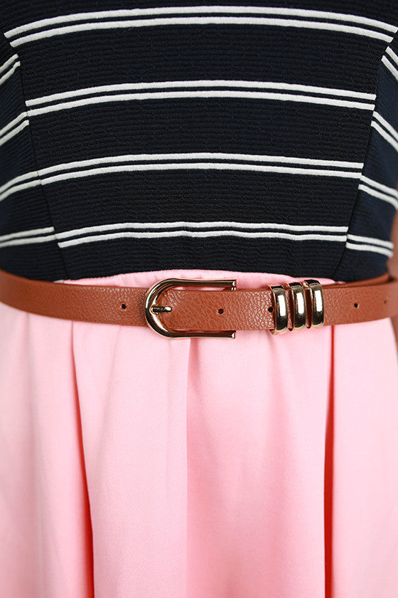 Nautical Runway Dress in Peach