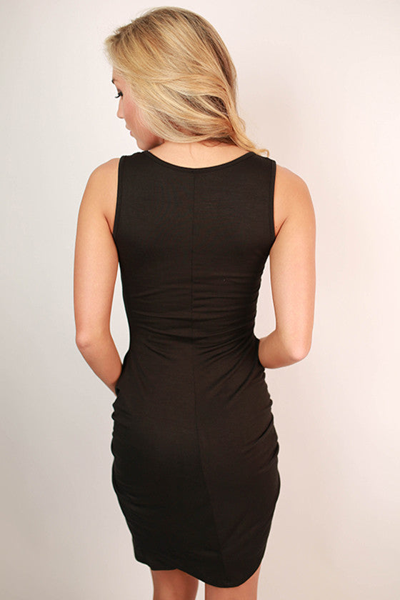 Stop & Stare Dress in Black