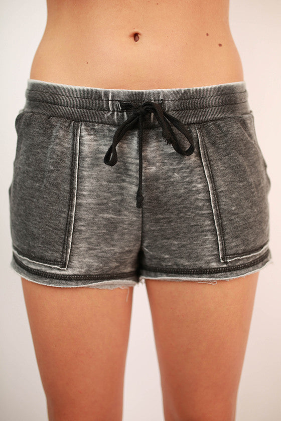 Burnout Active Short in Charcoal