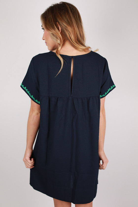 Sweet & Southern Shift Dress in Navy