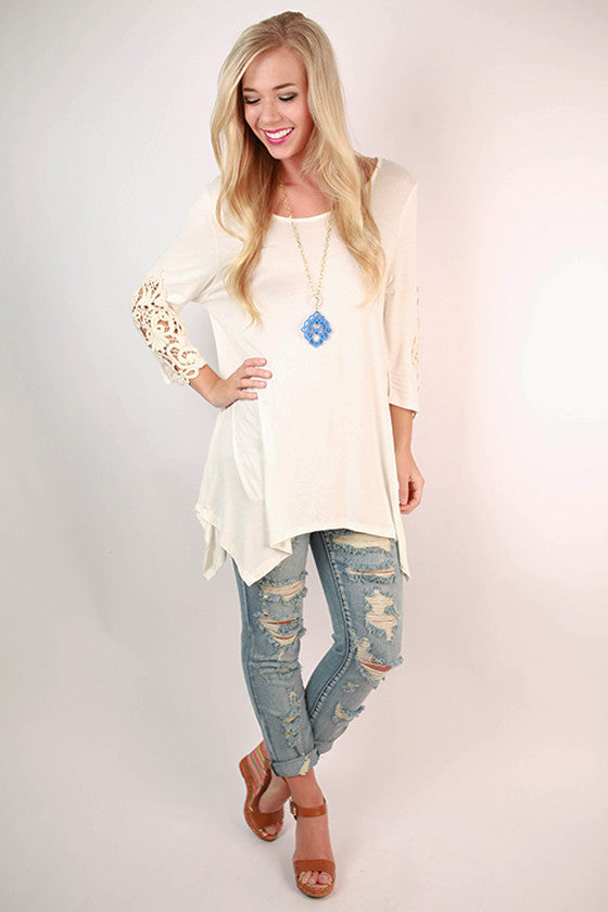 Timeless Beauty Top in Ivory