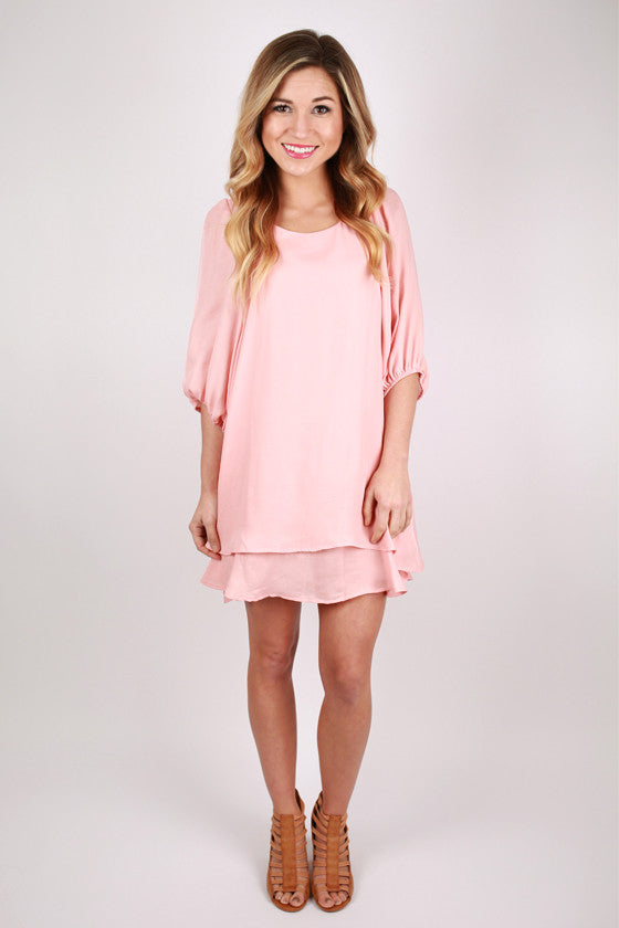 Gabriella Dress in Peach