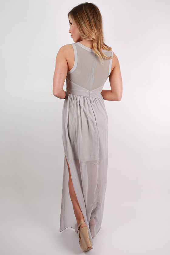 For The Twirl Of It Maxi Dress in Grey