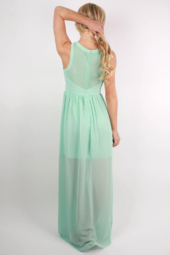 For The Twirl Of It Maxi Dress in Mint