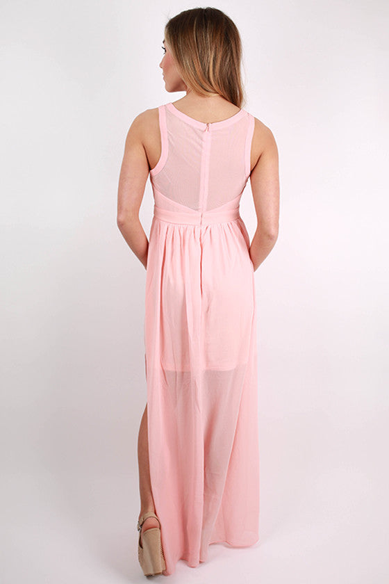 For The Twirl Of It Maxi Dress in Peach