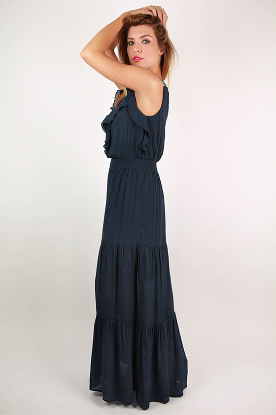 Share The Love Maxi Dress in Navy
