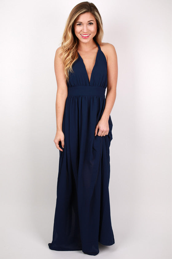 You're Not Dreaming Maxi Dress in Navy
