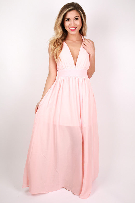 You're Not Dreaming Maxi Dress in Peach