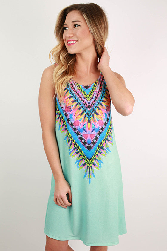Sangria Sipping Dress in Aqua