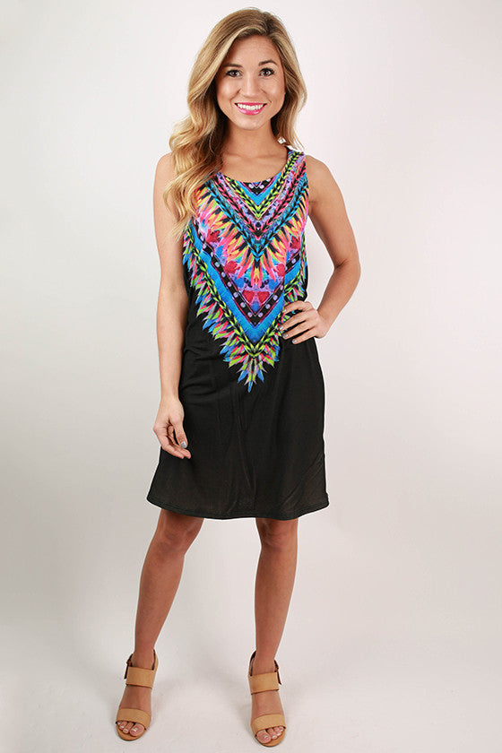 Sangria Sipping Dress in Black