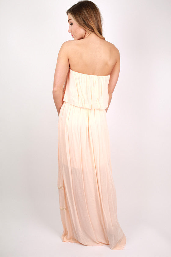 Coast To Coast Beauty Maxi Dress in Nude