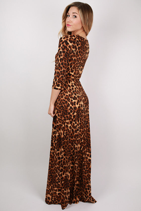 Cheetah Chic Maxi Dress