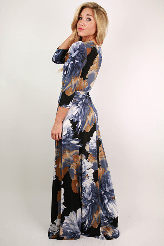 Glam All Day Every Day Maxi Dress in Navy