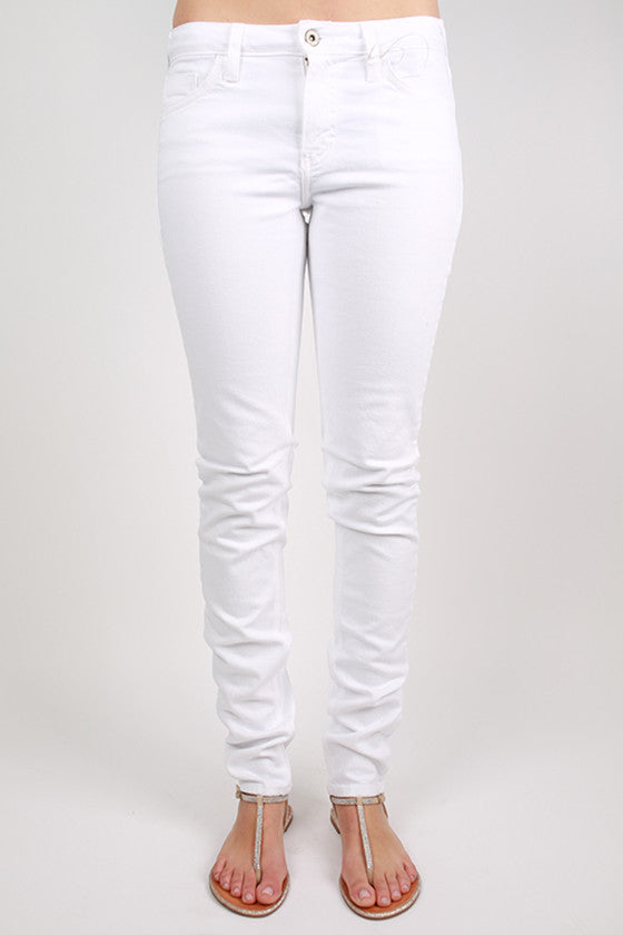 5 Pocket Skinny White