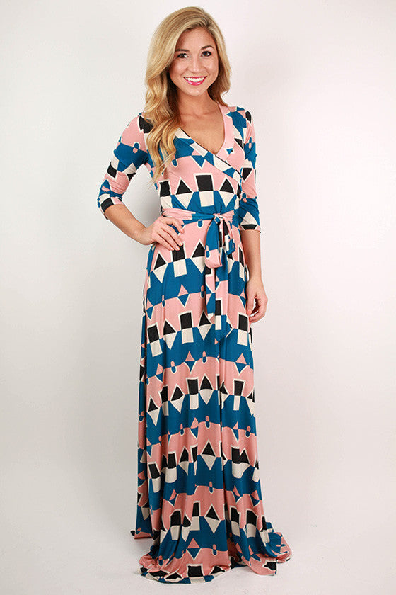 Retail Therapy Maxi Dress in Blue