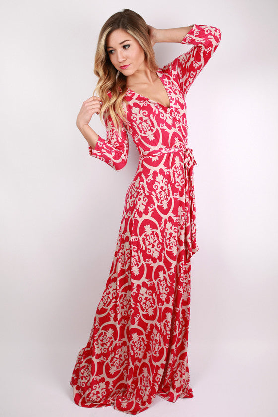 Don't Wake Me If I'm Dreaming Maxi Dress in Fuchsia