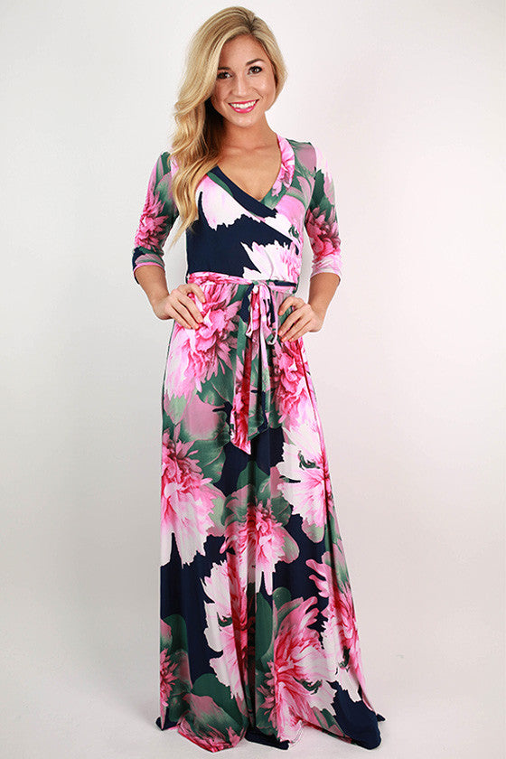 Glam All Day Every Day Maxi Dress in Pink