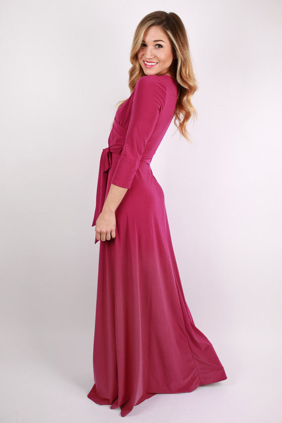 Not So Basic Maxi Dress in Orchid