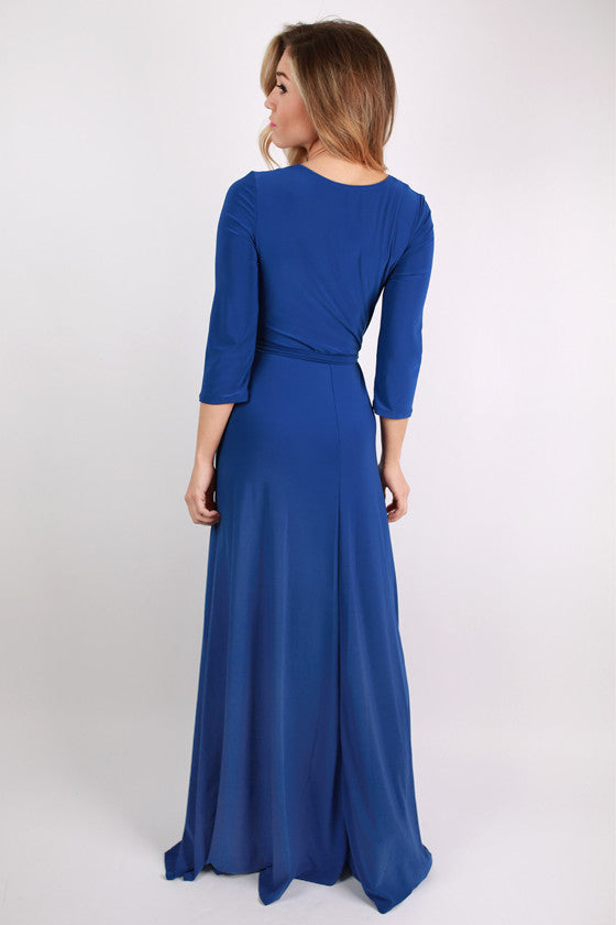 Not So Basic Maxi Dress in Royal Blue