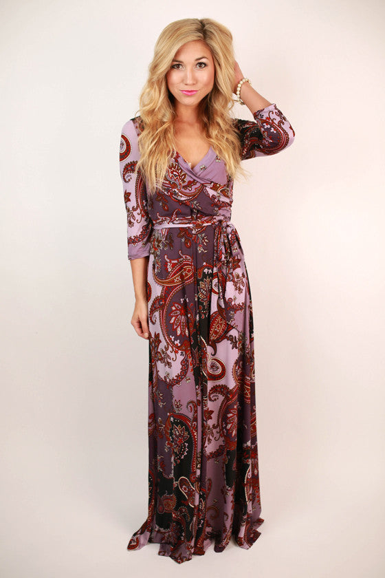 Sweetest Serendipity Maxi Dress in Royal Lilac