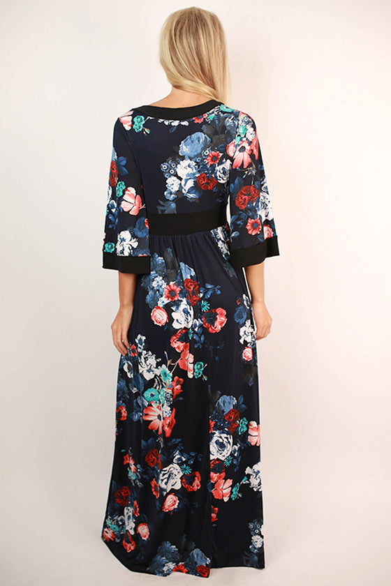 Heaven On Earth Maxi Dress in Navy