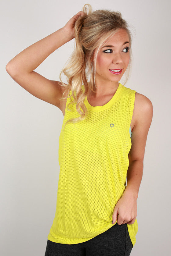 Basic Loose Top in Neon Yellow
