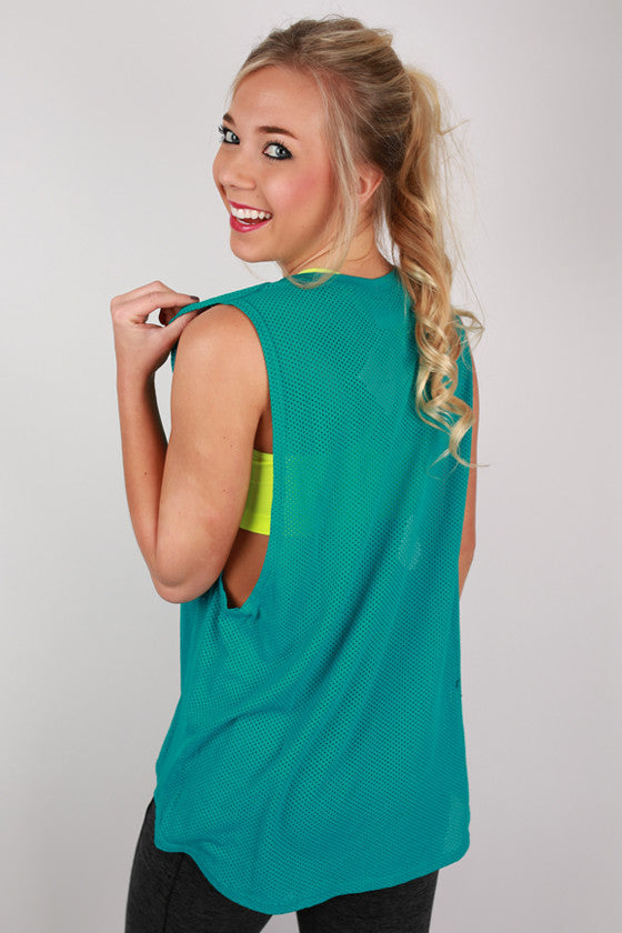 Basic Loose Top in Turquoise