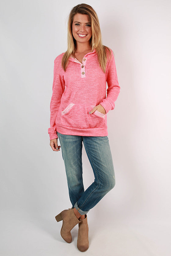 The Weekender Hoodie in Coral