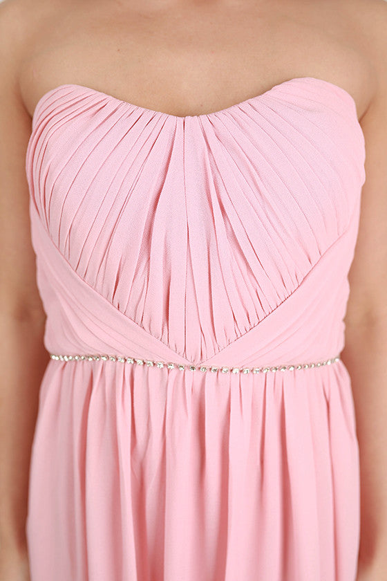 Girl's Best Friend Maxi Dress in Pink