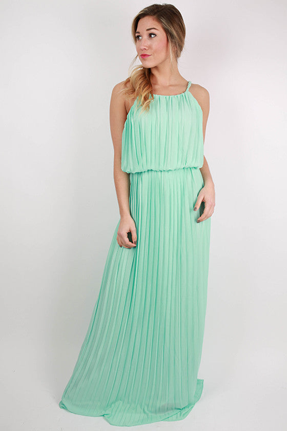 Light aqua maxi dress